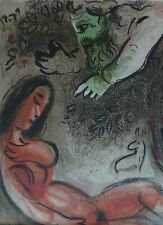 """MARC CHAGALL BIBLE """"Eve is cursed by God"""" HAND NUMBERED LITHOGRAPH M236"""