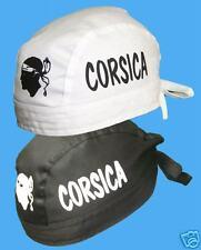 CORSE: bandana CORSICA NOIR ou BLANC  ¤ style CORSE tête de maure