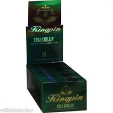 24 Kingpin Cold Chillin Limited Edition Menthol Flavored Cigarette Rolling Paper
