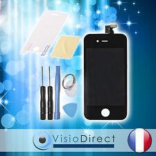 Vitre tactile ecran LCD sur chassis pour iPhone 4 noir + film protecteur