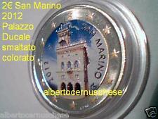2 euro 2012 San Marino fdc smaltato colorato Palazzo Ducale Saint Marin