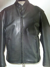 HUDSON SIZE M  MENS  HEAVY COW RIDER LEATHER COAT