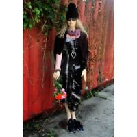NEW SEASON  BLACK DRESS BY ULTIMATE MIK'S. BOHO ,HIPPY, LAGENLOOK  RRP £115 XXL