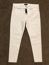 New with Tags Women's Banana Republic Skinny Fit White Jeans Size 32/14 $69.99