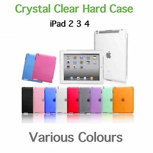 iPad 2 3 4 crystal coloured ultra thin hard case BUY 2 GET A 3rd FREE!!