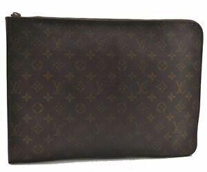 Authentic Louis Vuitton Monogram Poche Documents Brief Case M53400 LV B2684