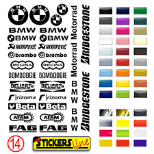 Aufkleber Kit Sponsor Daten BMW Motorrad Verkleidung Modell 14