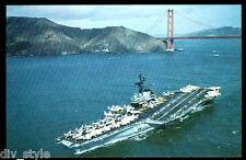 USS Coral Sea CVA-43 postcard  US Navy aircraft carrier (card3of3)