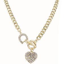 Fashion Jewelry Pendant Crystal Heart Metal Choker Chunky Statement Bib Necklace