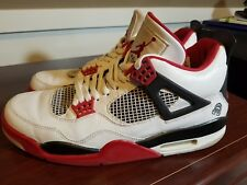 Air Jordan IV 4 Retro Mars Blackmon White Varsity Red Black 308497-162 Size 11.5