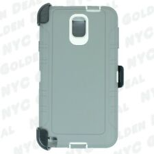Gray White for Samsung Galaxy Note 3 Defender Case w/ Clip Fits Otterbox