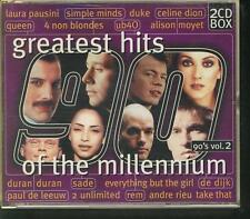 GREATEST HITS OF THE MILLENNIUM 90'S V2 2-CD BOX Simple Minds Queen Alison Moyet