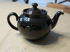 Alb Alcock Lindley Bloore Brown Teapot Made in England Euc