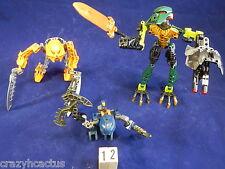 Lego Bionicle 3 Figures Pieces Guns Hero Factory Parts Weapons Masks Vintage #12