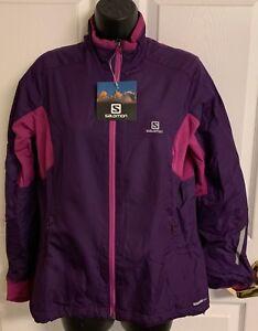 "New Salomon ""ESCAPE JACKET"" Women's Medium Winter Ski Jacket Cosmic Purple $140"