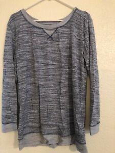 Women's Long Sleeve Gray Pullover Top - Felina - Petite Large