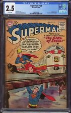 Superman #123 (DC, 1958) CGC GD+ 2.5 - 1st app Supergirl (prototype/tryout)