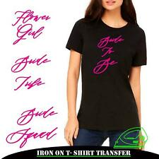 Personalized Hen Do Party Iron On Heat Transfer Bride Squad T Shirt Crew 7716