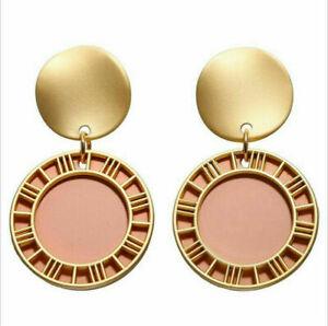 Fashion Women Metal Acrylic Geometric Stud Ear Dangle Drop Earrings Jewelry Gift