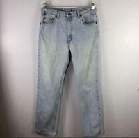 Vintage Levi's 505 Orange Tab Jeans Fit Size 36 x 32 Blue Denim USA Straight Leg