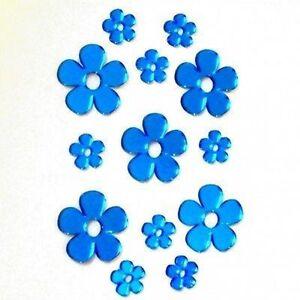 Decorative Mini Blue Daisy Mirrors - Bundle of Ten