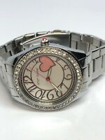 Betsey Johnson Ladies Stainless Steel Quartz Watch Crystal Bezel BJ00048-13