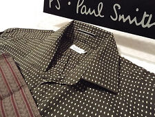 "PAUL SMITH Mens MAINLINE Shirt 🌍 Size 15"" (CHEST 40"") 🌎 RRP £195+ 📮 POLKA DOT"