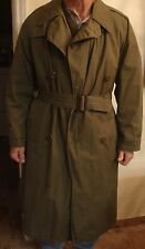 NAMED CAPT CASSIN WW2 ARMY AIR FORCE OFFICER '44 TRENCH COAT W LINER BELT 36R