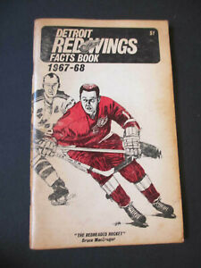 1967-68 RED WINGS FACT BOOK MEDIA GUIDE