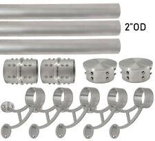 "Combination Bar Mount Foot Rail Bracket Kit - 2""OD Black Stainless Steel Tubing"