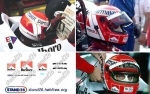 Decals marlboro Michelin casque casco helmet Lauda 1984 pour Spark 1/5
