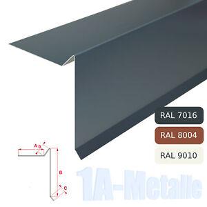 Ortgangblech Aluminium Winkelblech Ortblech Alu Dachblech RAL Farben Ortgang D
