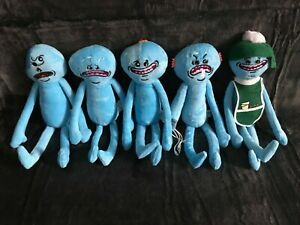 Mr Meeseeks Rick And Morty Happy Sad One-Eye Face Stuffed Plush Doll - UK Seller