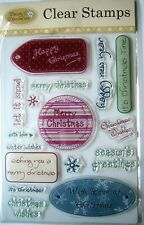 "Daisy & Dandelion Clear Stamp Set 5 x 7""  -- Christmas Wishes"