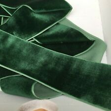 Rich Green Neat Edge Velvet Ribbon Wedding Sewing Easter Craft Christmas 1 Metre