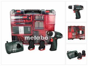 Metabo PowerMaxx BS Basic Set Bohrschrauber 10,8V 34Nm (600080880) + 2x Akku 2Ah