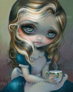 Jasmine Becket-Griffith art print SIGNED Alice's Advice alice in wonderland tea