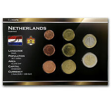 1999-2005 Netherlands 1 Cent-2 Euro Coin Set BU - SKU #34955
