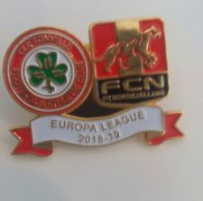 Cliftonville Nordsjaelland Europa League Qualifier Match Pin Badge Irish Danish