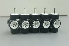 Plastic Tires Comold 6 spoke CM6 White 5 sets long axle fit 1:64 Hot Wheels MBX