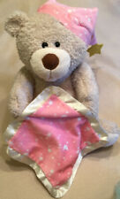 "10"" Peek A Boo Baby Teddy Bear Pink Blanket Animated Baby Stuffed Animal Music"