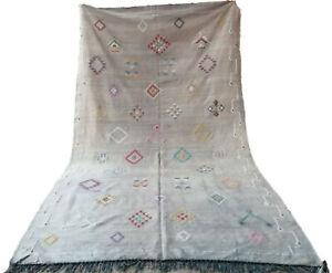 "Handmade Kilim Rug 5'9"" x 9'8"" Moroccan kilim rug Beni Ourain rug vintage rug"