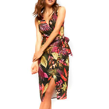 PORTMANS Island Palm Fixed Wrap Dress Multi-coloured New Size 10 with Tags