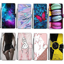 Flip 3D Painted Leather Card Holder Stand Phone Case Back Skins For iphone Cover