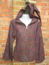 Damen Jacke Gr.M Kaputze Goa Hippie Alternativ Mittelalter Wolljacke lila