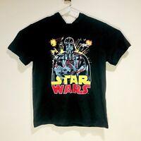 Star Wars Darth Vader T-Shirt w/Hoodie Mens Size XLarge [Y10]