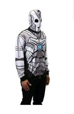 Doctor Who Cyberman Zip-Up Hoodie Costume size M Licensed Dr. NEW NWT