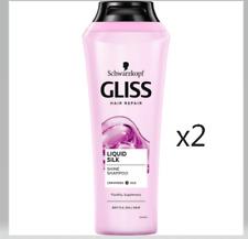 2 X SCHWARZKOPF GLISS HAIR REPAIR LIQUID SILK SHINE SHAMPOO