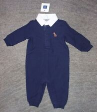 Janie and Jack Baby Boys Navy Long Sleeve Romper - Size 3-6 Months - NWT
