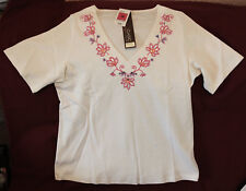 "Elegant M&S ""Classic"" pure cotton off-white blouse/top (18). Marks & Spencer."